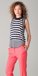 Navy and white striped top from Hart of Dixie at Shopbop