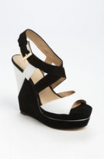 Hanna's black and white wedges at Nordstrom