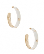 Hanna's studded hoop earrings at Forever 21