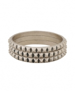 Silver spiked bangles like Arias at Forever 21