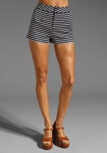 Marc Jacobs stripe shorts at Revolve