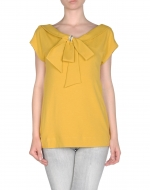 Similar yellow top at Yoox