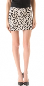 Leopard mini skirt like Arias at Shopbop