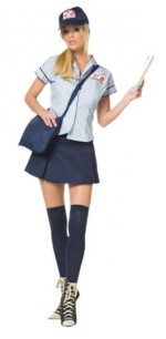 Sexy mail girl costume at Amazon