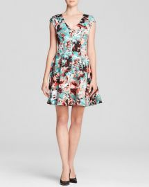 AQUA Dress - Abstract Floral Scuba at Bloomingdales