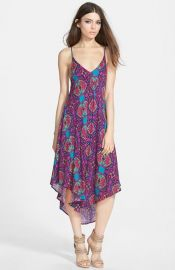 ASTR Gathered Front Midi Dress at Nordstrom