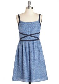 Afternoon with Your Buds Dress in Periwinkle at ModCloth