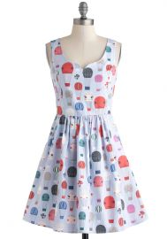 Air of Adorable Dress in Balloons at ModCloth