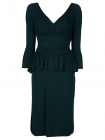 Ashleys green peplum Alexander McQueen dress on Revenge at Farfetch