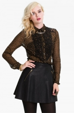 Belles black and gold top at Nordstrom