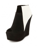 Black and white booties like Arias at Charlotte Russe