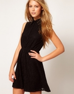 Black lace shirtdress from ASOS at Asos