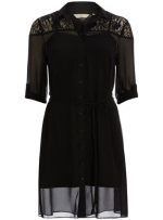 Black lace shirtdress from Dorothy Perkins at Dorothy Perkins
