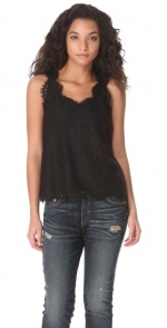 Black lace top by Joie at Shopbop