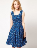 Blue floral dress from ASOS at Asos