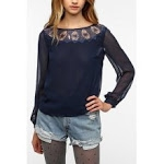 Blue lace top from Urban Outfitters at Urban Outfitters