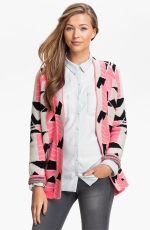 Brittanys pink cardigan at Nordstrom