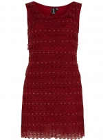 Burgundy mini dress from Dorothy Perkins at Dorothy Perkins