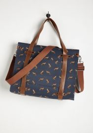 Camp Director Tote in Foxes at ModCloth