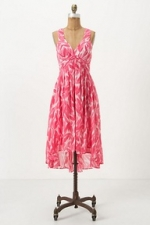 Charlottes pink dress at Anthropologie at Anthropologie