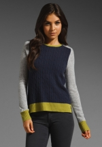 Color block sweater by Autumn Cashmere from HIMYM at Revolve
