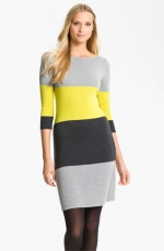 Colorblocked sweater dress by Calvin Klein at Nordstrom