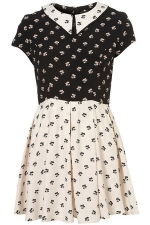Contrast collar dress from Topshop on The Carrie Diaries at Topshop