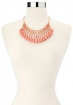 Coral drop necklace from Charlotte Russe at Charlotte Russe