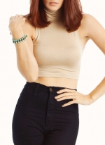 Cream crop top from Go Jane at Go Jane