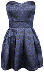 Dark blue strapless leopard dress from Forever 21 at Forever 21