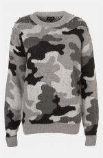 Dorrit's grey camo sweater at Nordstrom at Nordstrom