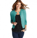 Erin's green heart sweater on The office at Loft