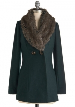 Faux fur collar coat from Modcloth at Modcloth