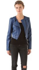 Free People Collarless Moto Jacket at Shopbop