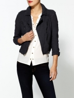 Free People linen moto jacket at Piperlime