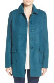 Frenchi Babydoll Coat in Teal at Nordstrom