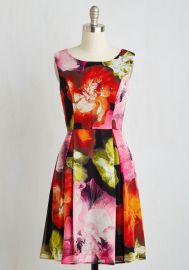 Girls Best Frond Dress in Glowing Flowers at ModCloth