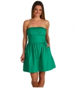 Green strapless dress by BB Dakota at 6pm