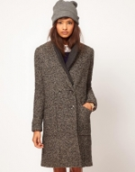 Grey crombie coat from ASOS at Asos