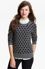 Grey polka dot sweater at nordstrom at Nordstrom