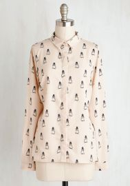 Im Owl Dressed Up Top at ModCloth