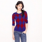 Jess Days argyle sweater from J Crew at J. Crew