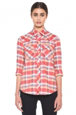 Jess's plaid shirt by APC at Forward by Elyse Walker