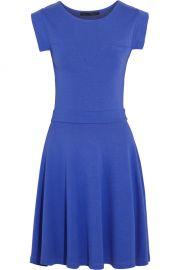 Wornontv Felicity S Blue Cap Shoulder Fit And Flare Dress