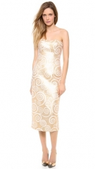 Land039Wren Scott Strapless Detailed Dress at Shopbop