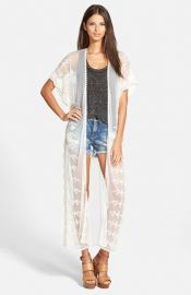 Leith Embroidered Lace Duster at Nordstrom