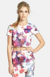 Leith Floral Top at Nordstrom