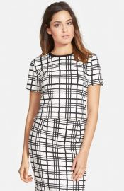 Leith and39Checkerand39 Crop Top at Nordstrom