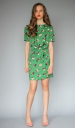 Lemon's green dress at Karenwalker