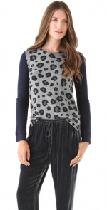 Leopard sweater from Rebecca Taylor at Shopbop